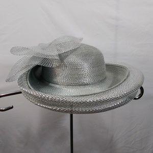 Lily Lee Silver Fancy Derby Church Hat
